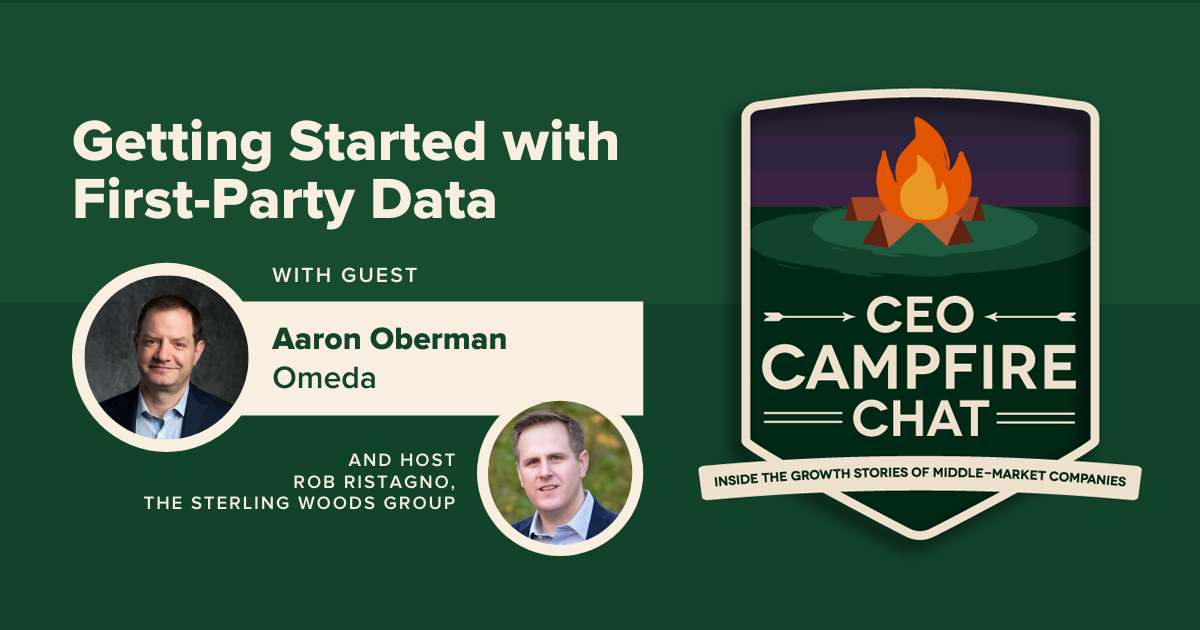 Aaron Oberman | Getting Started with First-Party Data | CEO Campfire Chat | The Sterling Woods Group